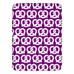 Purple Pretzel Illustrations Pattern Samsung Galaxy Tab 3 (10.1 ) P5200 Hardshell Case