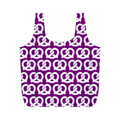 Purple Pretzel Illustrations Pattern Full Print Recycle Bags (m)