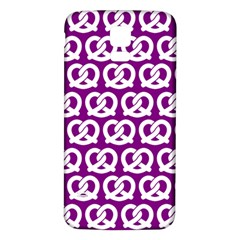 Purple Pretzel Illustrations Pattern Samsung Galaxy S5 Back Case (White)
