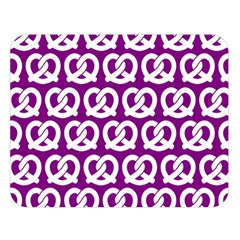 Purple Pretzel Illustrations Pattern Double Sided Flano Blanket (Large)