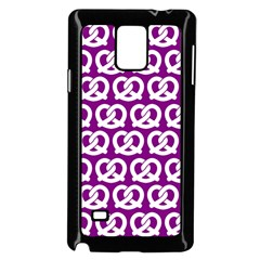 Purple Pretzel Illustrations Pattern Samsung Galaxy Note 4 Case (Black)
