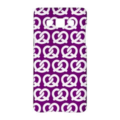 Purple Pretzel Illustrations Pattern Samsung Galaxy A5 Hardshell Case