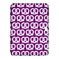 Purple Pretzel Illustrations Pattern Samsung Galaxy Tab 4 (10.1 ) Hardshell Case