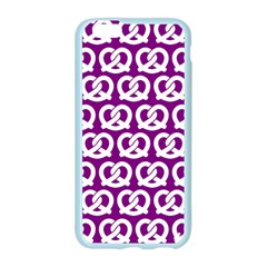Purple Pretzel Illustrations Pattern Apple Seamless iPhone 6/6S Case (Color)