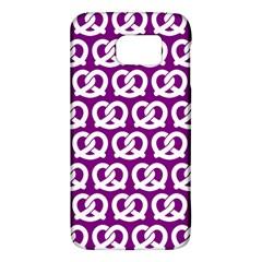 Purple Pretzel Illustrations Pattern Galaxy S6