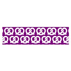 Purple Pretzel Illustrations Pattern Satin Scarf (Oblong)