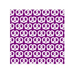 Purple Pretzel Illustrations Pattern Small Satin Scarf (Square)