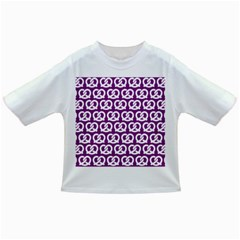 Purple Pretzel Illustrations Pattern Infant/Toddler T-Shirts
