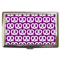 Purple Pretzel Illustrations Pattern Cigarette Money Cases