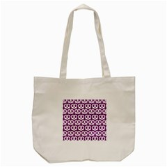Purple Pretzel Illustrations Pattern Tote Bag (cream)