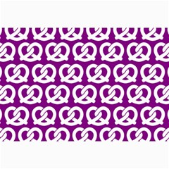 Purple Pretzel Illustrations Pattern Collage 12  x 18