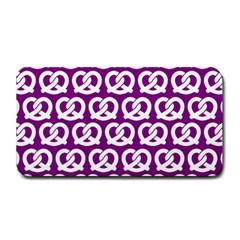 Purple Pretzel Illustrations Pattern Medium Bar Mats
