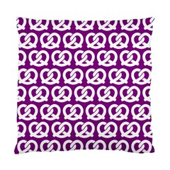 Purple Pretzel Illustrations Pattern Standard Cushion Case (one Side)
