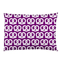 Purple Pretzel Illustrations Pattern Pillow Cases