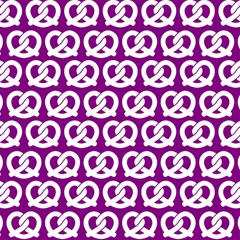 Purple Pretzel Illustrations Pattern Magic Photo Cubes