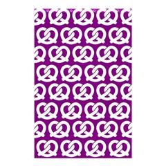 Purple Pretzel Illustrations Pattern Shower Curtain 48  x 72  (Small)