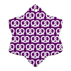 Purple Pretzel Illustrations Pattern Ornament (Snowflake)