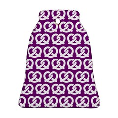 Purple Pretzel Illustrations Pattern Bell Ornament (2 Sides)