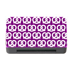 Purple Pretzel Illustrations Pattern Memory Card Reader with CF