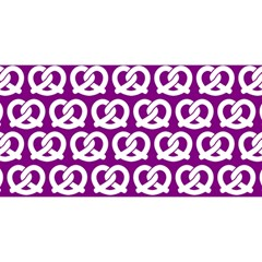 Purple Pretzel Illustrations Pattern YOU ARE INVITED 3D Greeting Card (8x4)