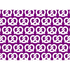 Purple Pretzel Illustrations Pattern Birthday Cake 3D Greeting Card (7x5)