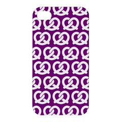 Purple Pretzel Illustrations Pattern Apple iPhone 4/4S Hardshell Case