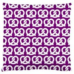 Purple Pretzel Illustrations Pattern Large Cushion Cases (Two Sides)