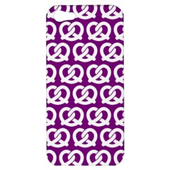 Purple Pretzel Illustrations Pattern Apple iPhone 5 Hardshell Case