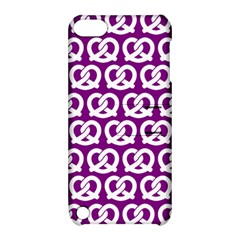 Purple Pretzel Illustrations Pattern Apple iPod Touch 5 Hardshell Case with Stand