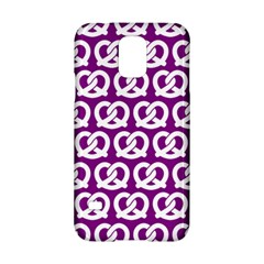 Purple Pretzel Illustrations Pattern Samsung Galaxy S5 Hardshell Case
