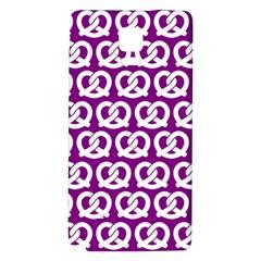 Purple Pretzel Illustrations Pattern Galaxy Note 4 Back Case