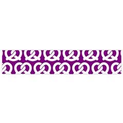 Purple Pretzel Illustrations Pattern Flano Scarf (Small)