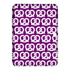 Purple Pretzel Illustrations Pattern Samsung Galaxy Tab 4 (10.1 ) Hardshell Case