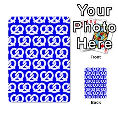 Blue Pretzel Illustrations Pattern Multi-purpose Cards (Rectangle)