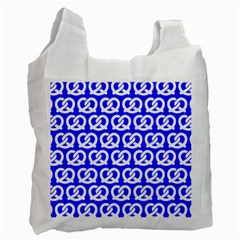 Blue Pretzel Illustrations Pattern Recycle Bag (Two Side)