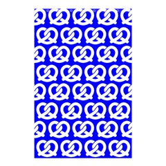 Blue Pretzel Illustrations Pattern Shower Curtain 48  x 72  (Small)