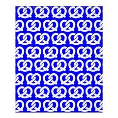 Blue Pretzel Illustrations Pattern Shower Curtain 60  x 72  (Medium)