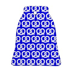Blue Pretzel Illustrations Pattern Bell Ornament (2 Sides)
