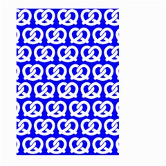 Blue Pretzel Illustrations Pattern Large Garden Flag (two Sides)
