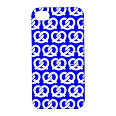 Blue Pretzel Illustrations Pattern Apple iPhone 4/4S Hardshell Case with Stand