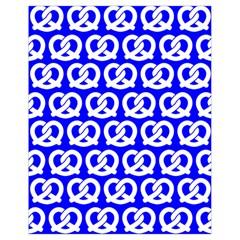 Blue Pretzel Illustrations Pattern Drawstring Bag (Small)