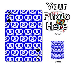 Blue Pretzel Illustrations Pattern Playing Cards 54 Designs