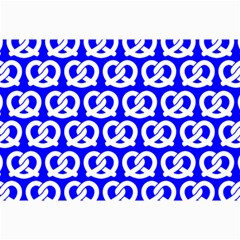 Blue Pretzel Illustrations Pattern Collage 12  x 18