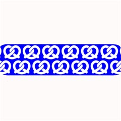 Blue Pretzel Illustrations Pattern Large Bar Mats
