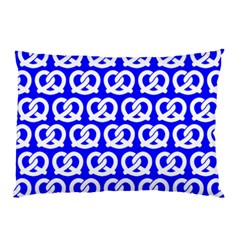 Blue Pretzel Illustrations Pattern Pillow Cases