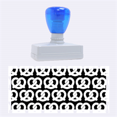 Blue Pretzel Illustrations Pattern Rubber Stamps (Large)