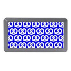 Blue Pretzel Illustrations Pattern Memory Card Reader (Mini)