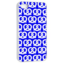 Blue Pretzel Illustrations Pattern Apple iPhone 4/4s Seamless Case (White)