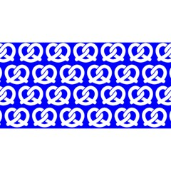 Blue Pretzel Illustrations Pattern YOU ARE INVITED 3D Greeting Card (8x4)
