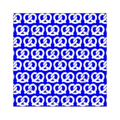 Blue Pretzel Illustrations Pattern Acrylic Tangram Puzzle (6  X 6 )
